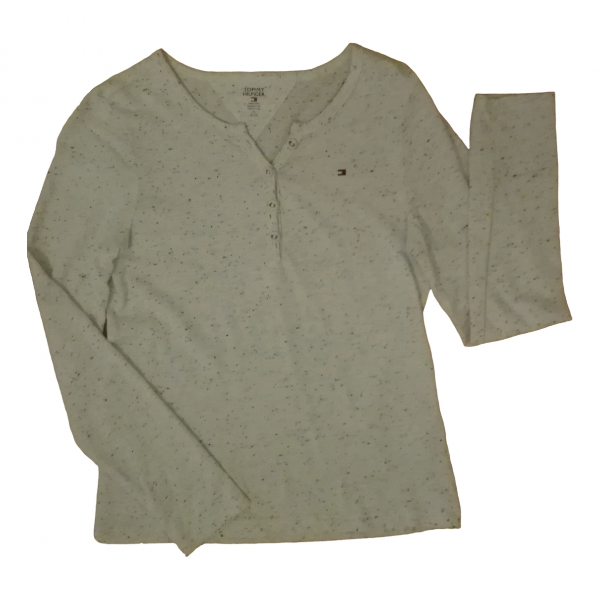 Tommy Hilfiger - Top   pour enfant en coton - ecru