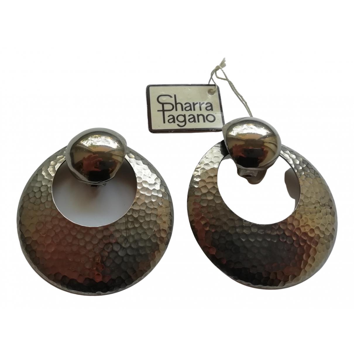 Sharra Pagano - Boucles doreilles   pour femme en acier - metallise