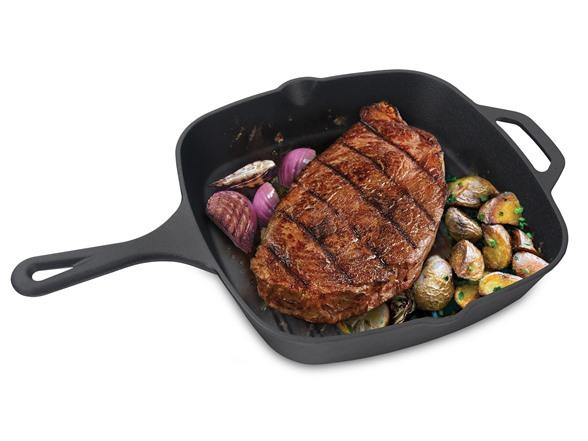 Jim Beam Cast Iron Square Grill Pan