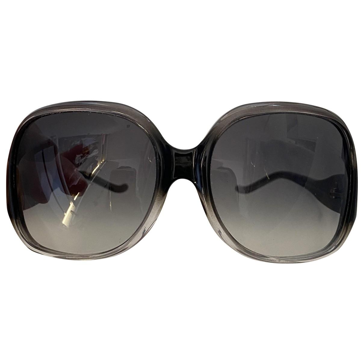 Balenciaga \N Sonnenbrillen in  Anthrazit Kunststoff