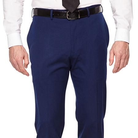 Van Heusen Mens Stretch Slim Fit Suit Pants, 34 32, Blue