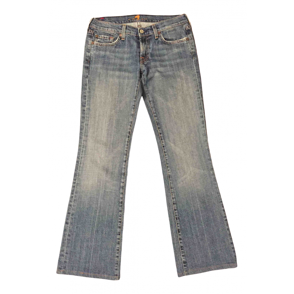 7 For All Mankind \N Blue Denim - Jeans Trousers for Women 42 IT