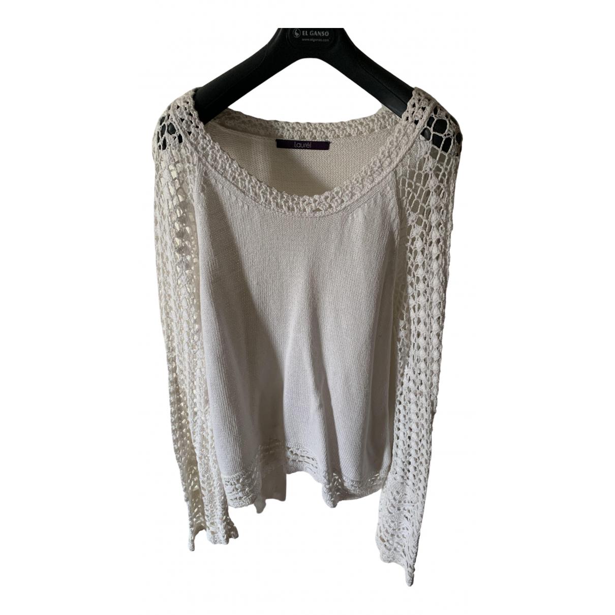 Laurel - Pull   pour femme en coton - blanc