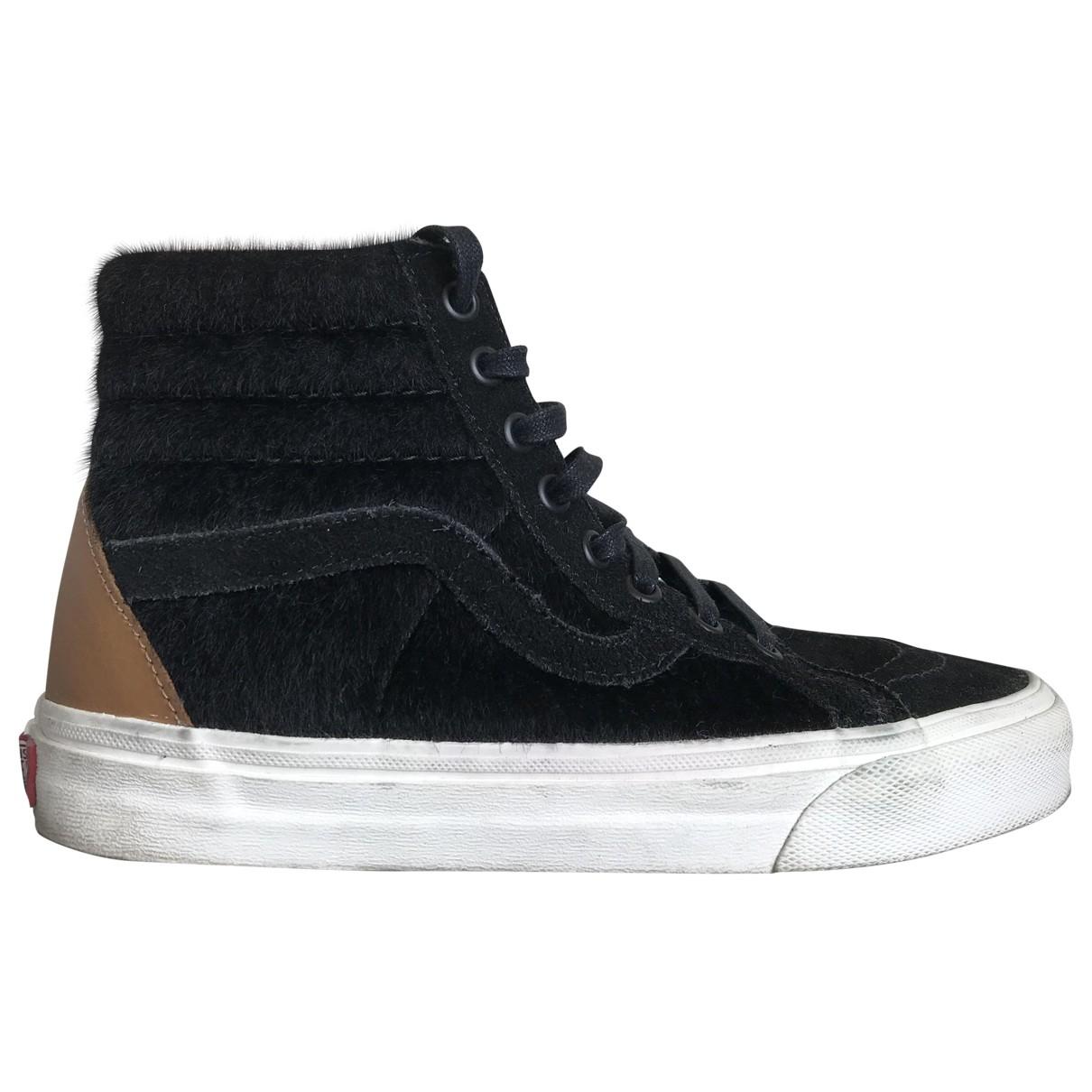 Vans - Baskets   pour femme en suede - noir