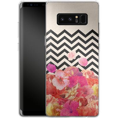 Samsung Galaxy Note 8 Silikon Handyhuelle - Chevron Flora II von Bianca Green