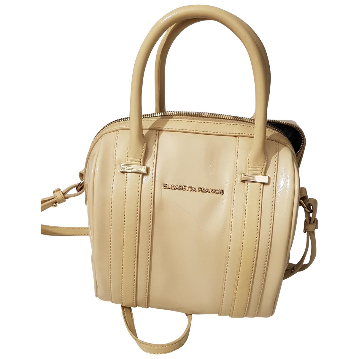 Elisabetta Franchi \N Handtasche in  Beige Lackleder