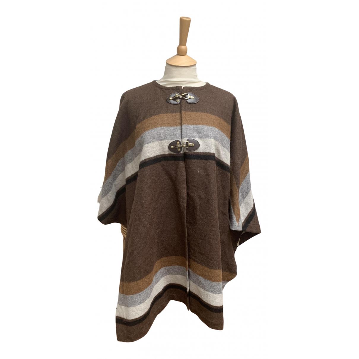 Massimo Dutti - Manteau   pour femme en laine - marron
