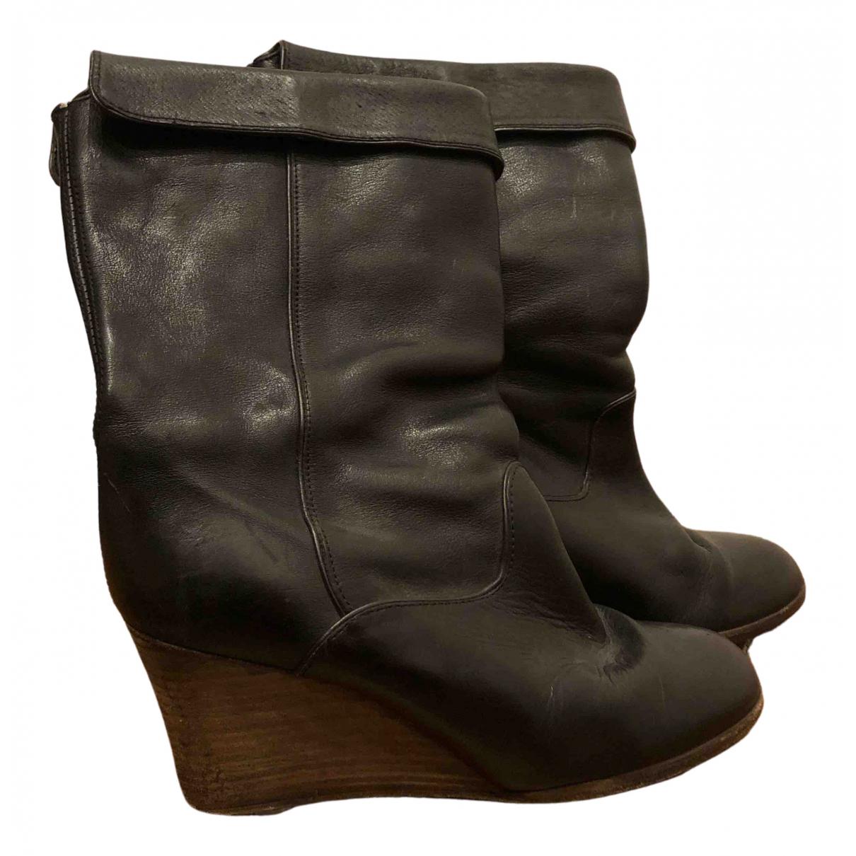 Comptoir Des Cotonniers - Bottes   pour femme en cuir - noir