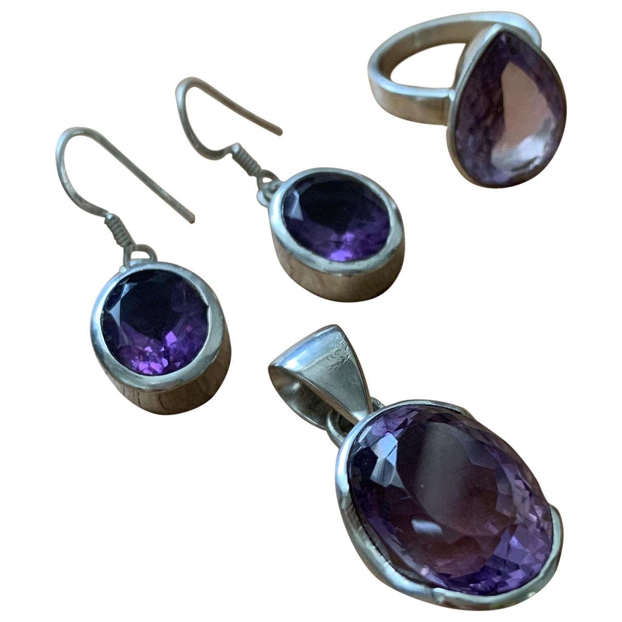 - Parure Amethyste pour femme en argent - violet