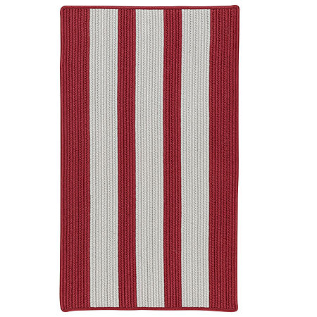 Colonial Mills Cayman Stripe Braided Rectangular Reversible Indoor/Outdoor Rugs, One Size , Red