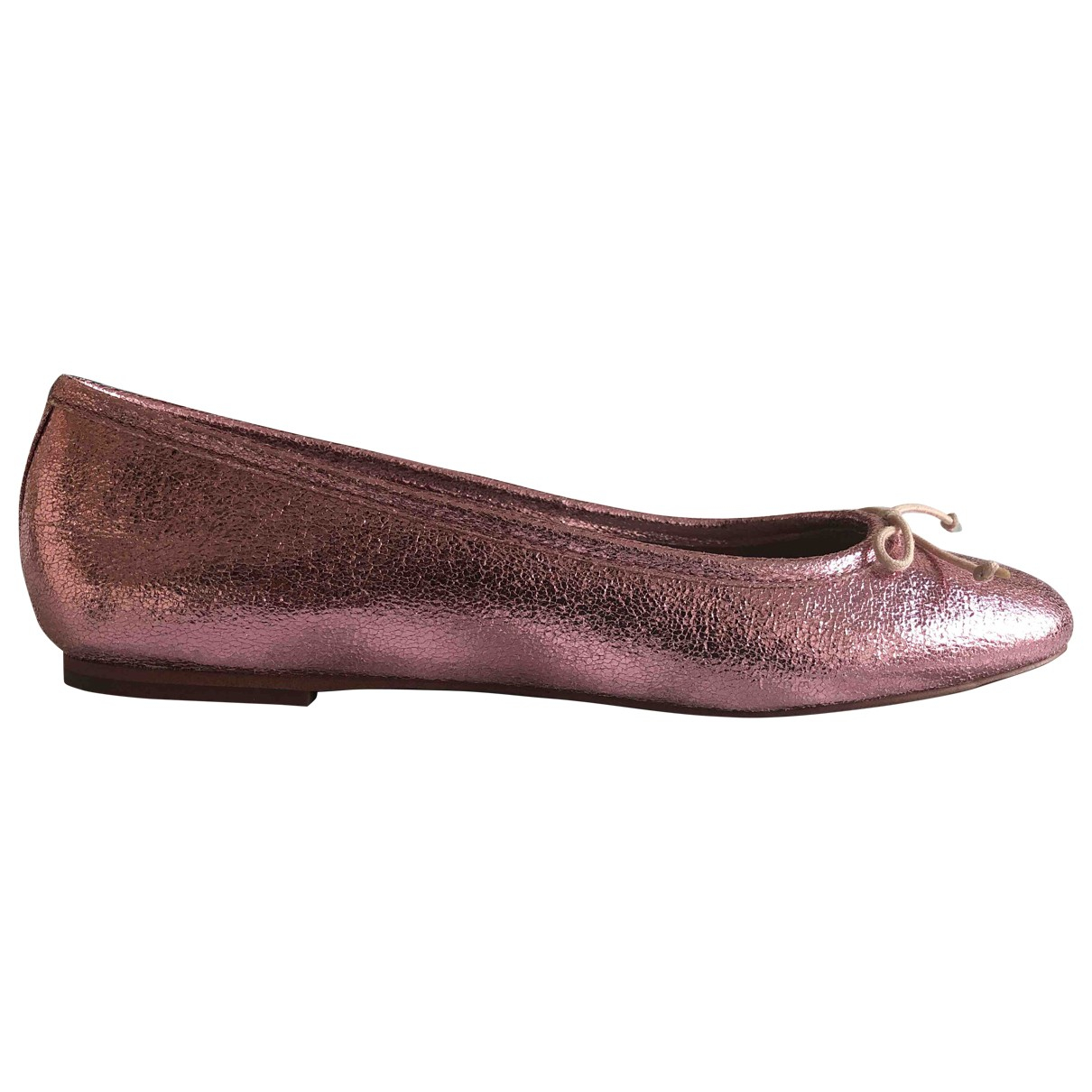 Bimba Y Lola \N Pink Fur Ballet flats for Women 40 EU