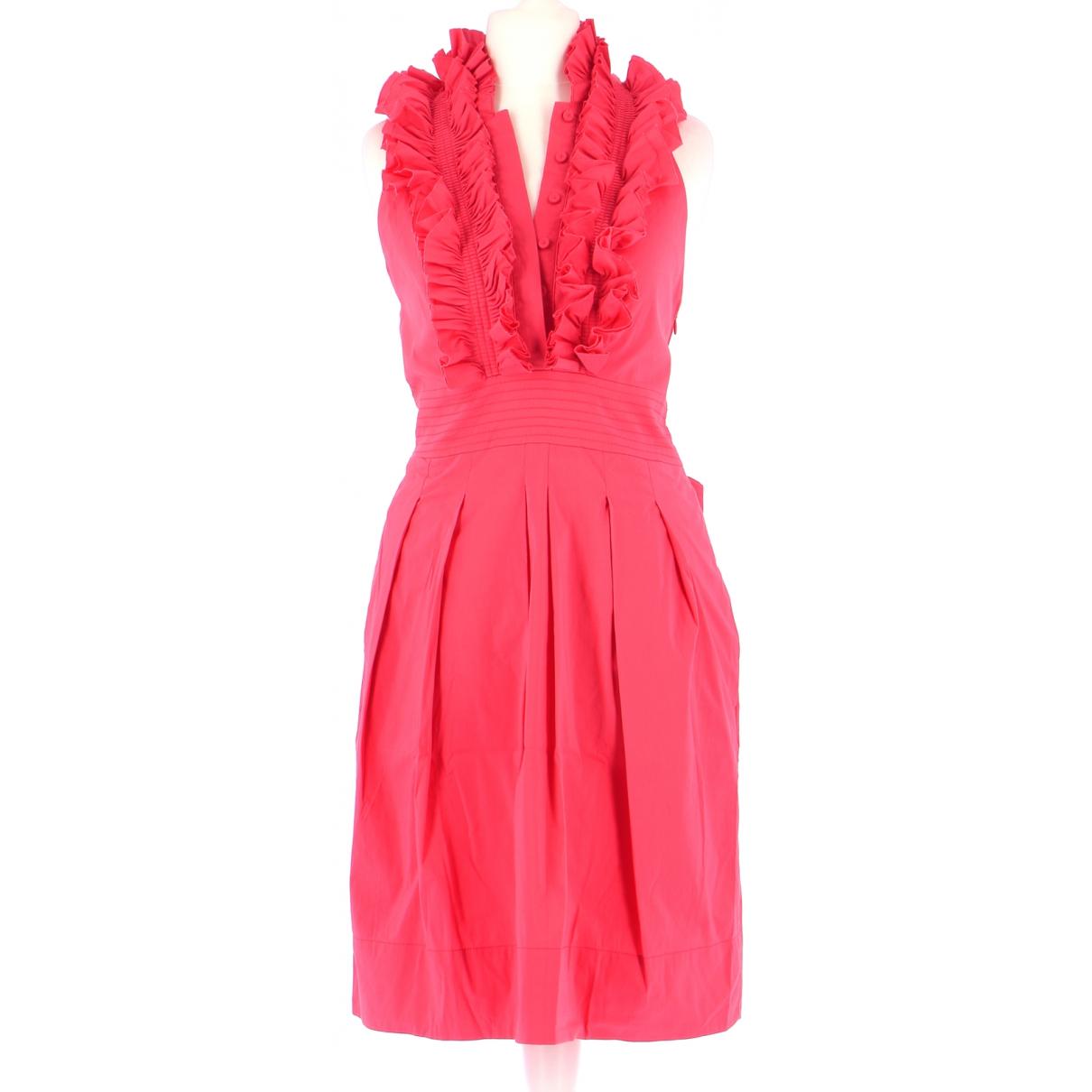 Bcbg Max Azria \N Kleid in  Rosa Baumwolle