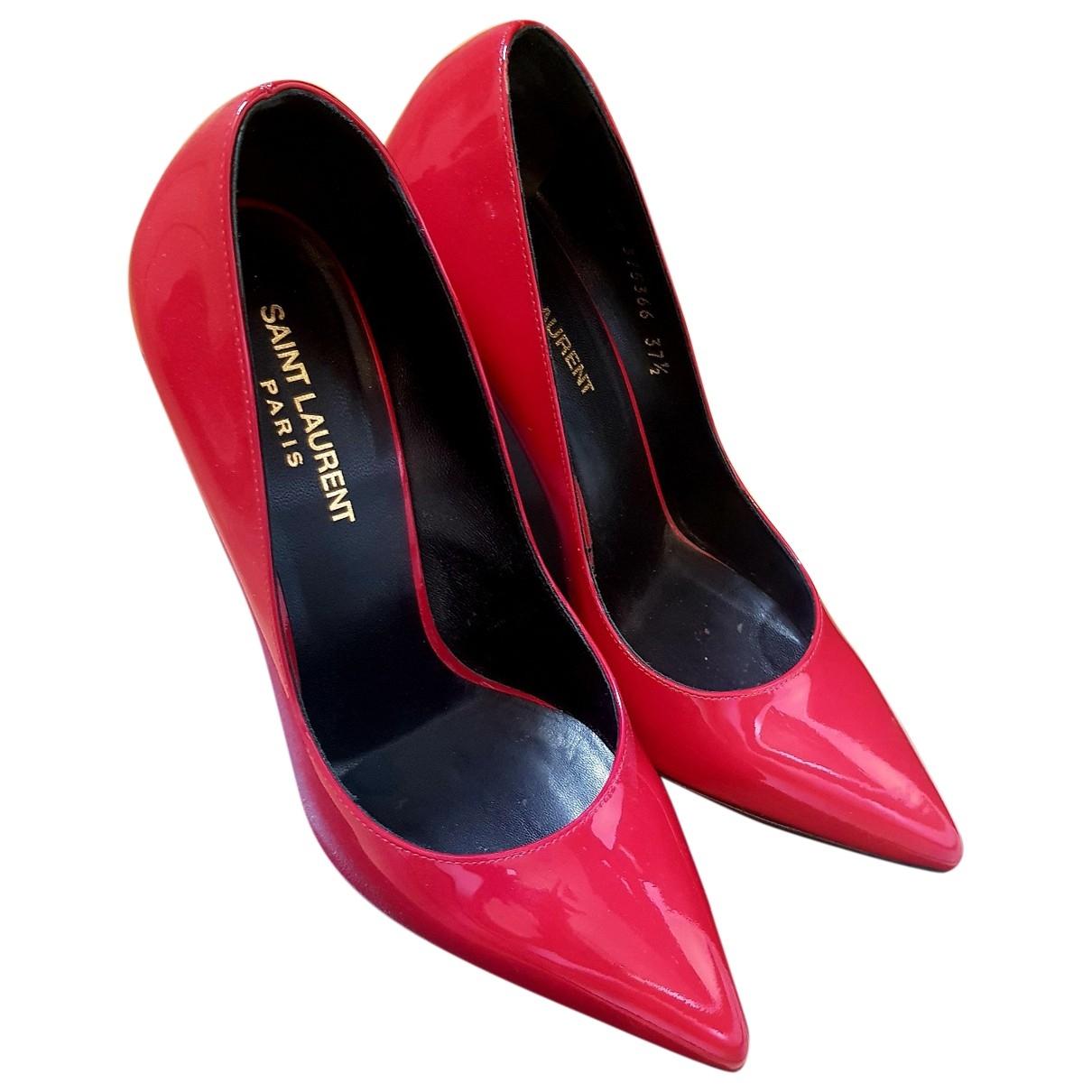 Saint Laurent \N Red Patent leather Heels for Women 37.5 EU