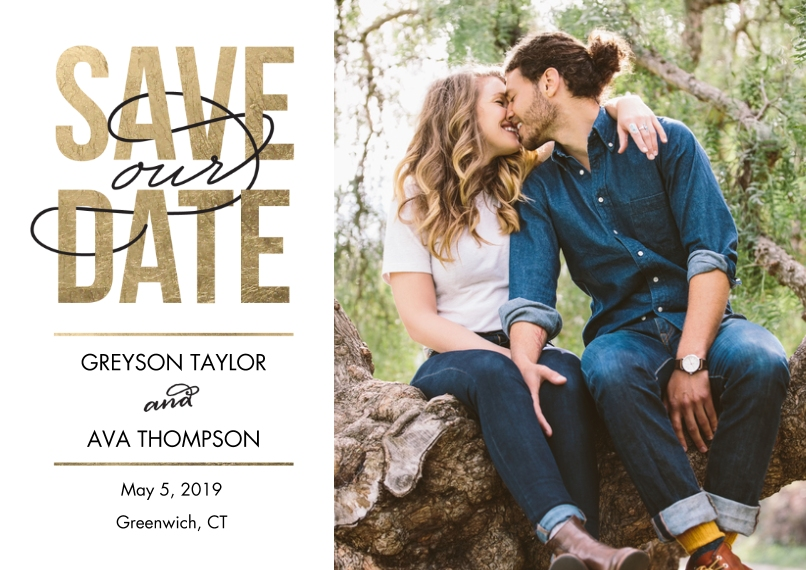 Save the Date 5x7 Cards, Premium Cardstock 120lb with Rounded Corners, Card & Stationery -Save Date Modern