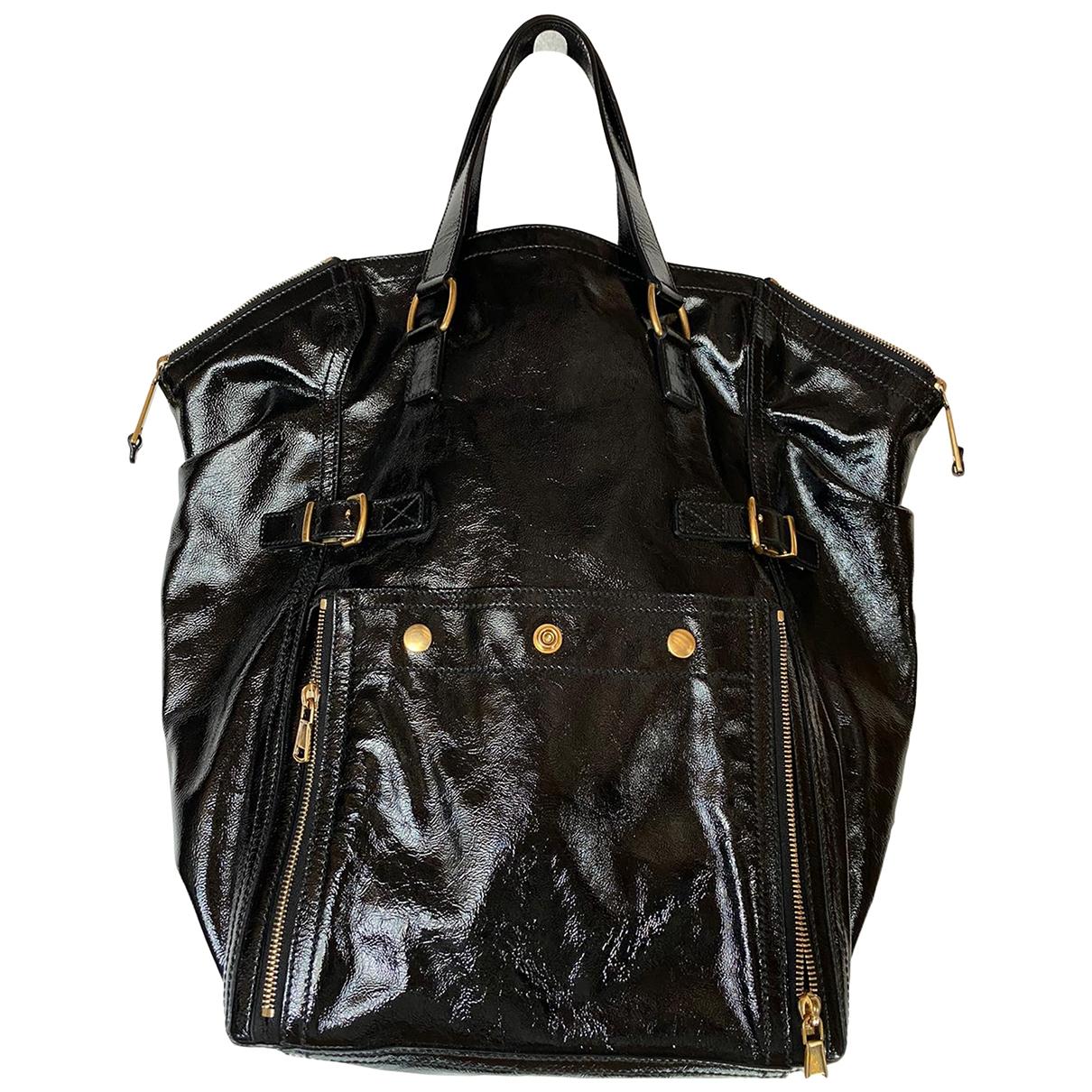 Yves Saint Laurent Downtown Black Patent leather handbag for Women \N