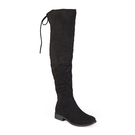 Journee Collection Womens Mount Over-the-Knee Boots, 7 Medium, Black