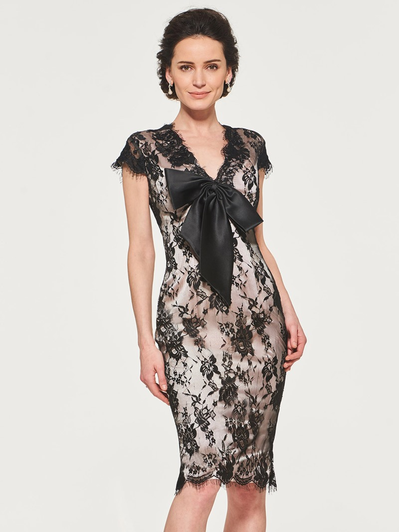 Ericdress Lace Sheath Knee Length Mother of the Bride Dress