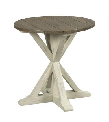 Reclamation Place Collection 523-918W TRESTLE ROUND END TABLE in Reclaimed