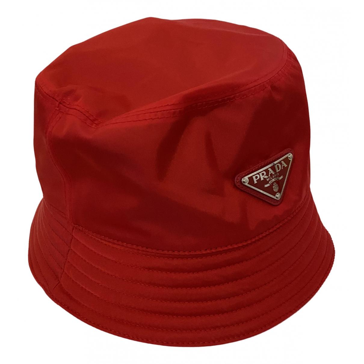 Prada - Chapeau & Bonnets   pour homme - rouge