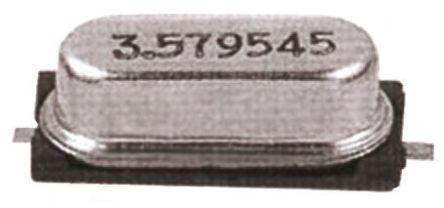 Fox Electronics 3.6864MHz Crystal ±30ppm SMD 2-Pin 11.7 x 5 x 4.5mm (5)