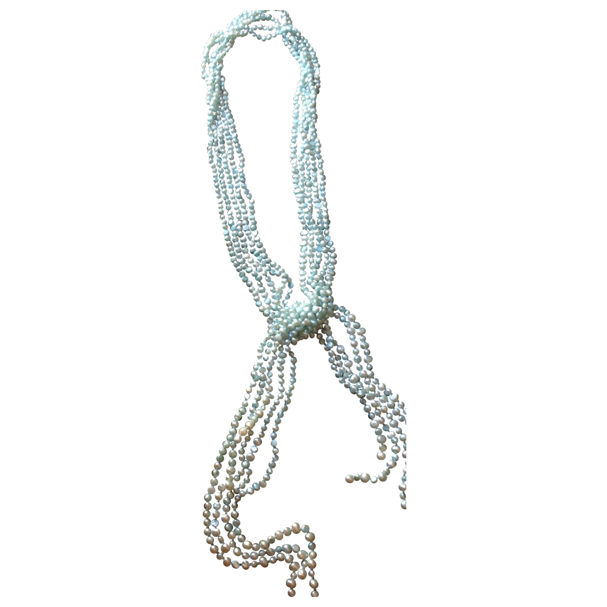 Non Signé / Unsigned \N Blue Pearls Long necklace for Women \N