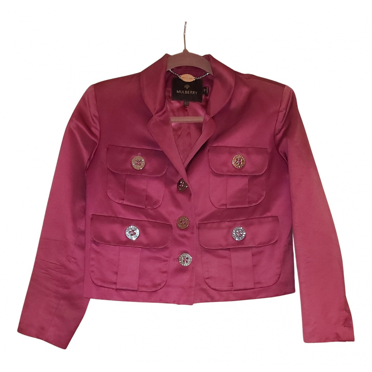 Mulberry N Pink Cotton jacket for Women 8 UK