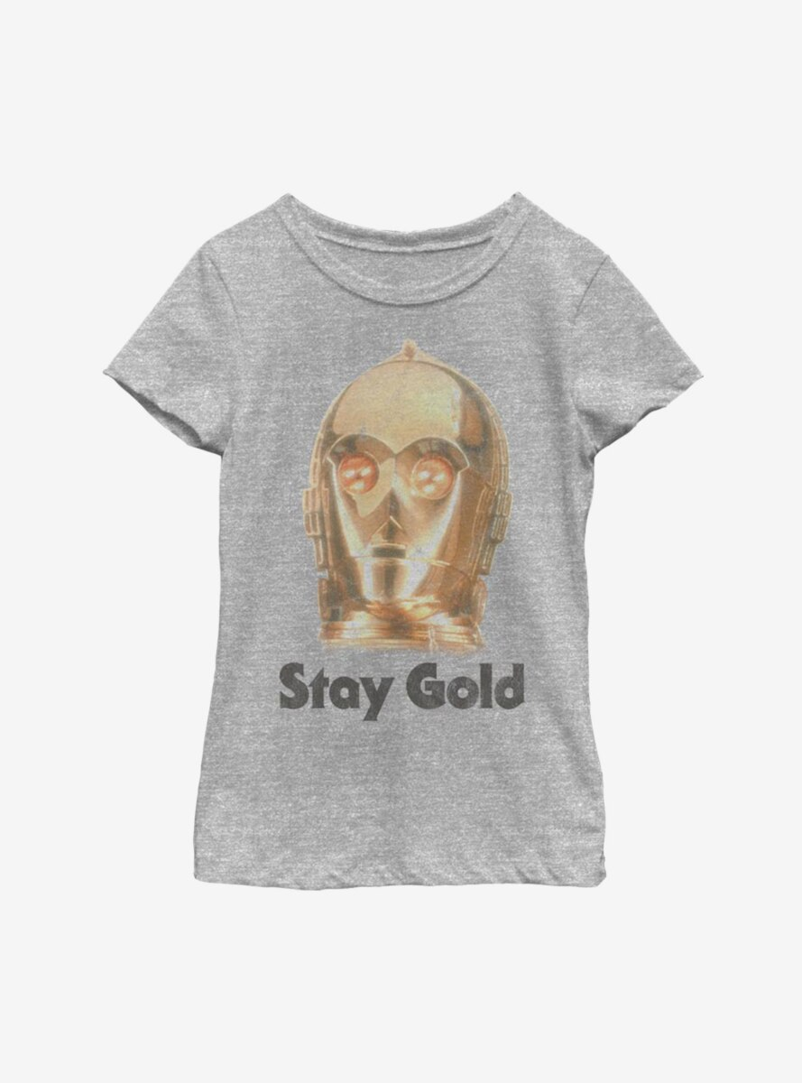 Star Wars Episode IX The Rise Of Skywalker Stay Gold Youth Girls T-Shirt