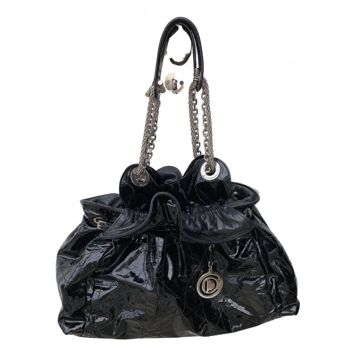 Dior \N Handtasche in  Schwarz Lackleder