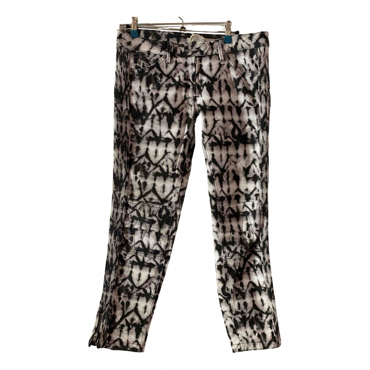 Isabel Marant Pour H&m N White Cotton Trousers for Women 8 US