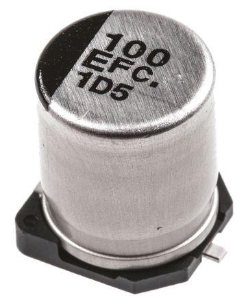 Panasonic 100μF Electrolytic Capacitor 25V dc, Surface Mount - EEEFC1E101AP (10)
