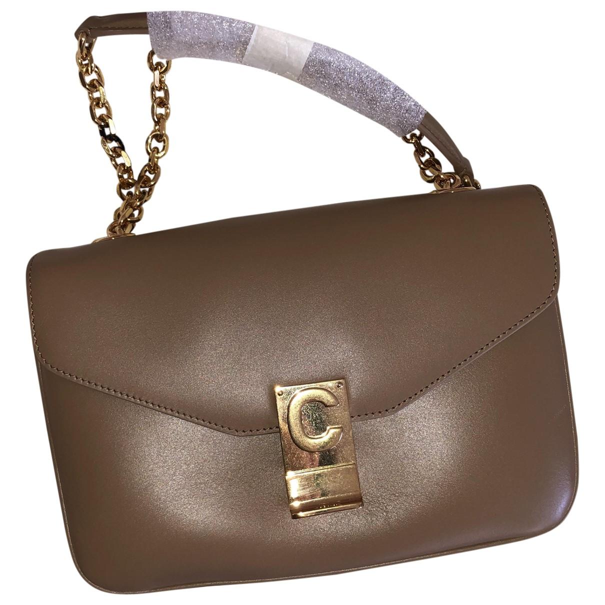 Celine C bag Beige Leather handbag for Women \N