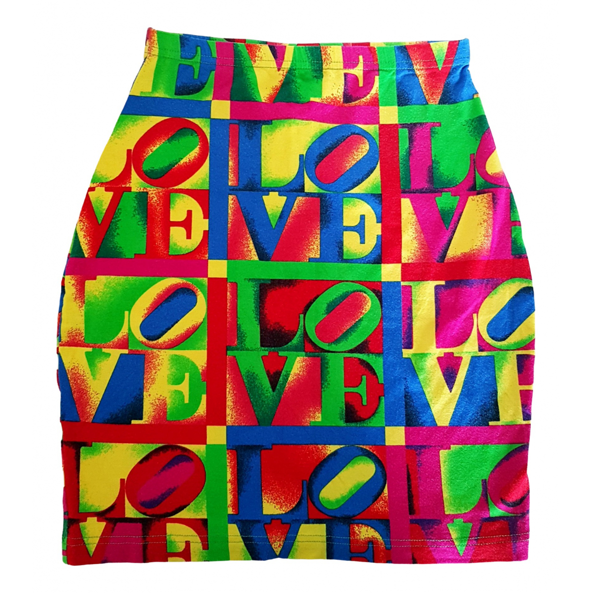 Versace Jeans \N Multicolour Cotton - elasthane skirt for Women 42 IT