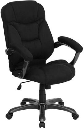 GO-725-BK-GG Executive Office Chair with Swivel Seat  Built-In Lumbar Support  Adjustable Height  Padded Arms  Tilt Tension Adjustment Knob and