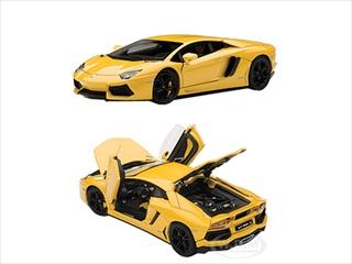 Lamborghini Aventador LP700-4 Yellow With Openings 1/43 Diecast Model Car by Autoart