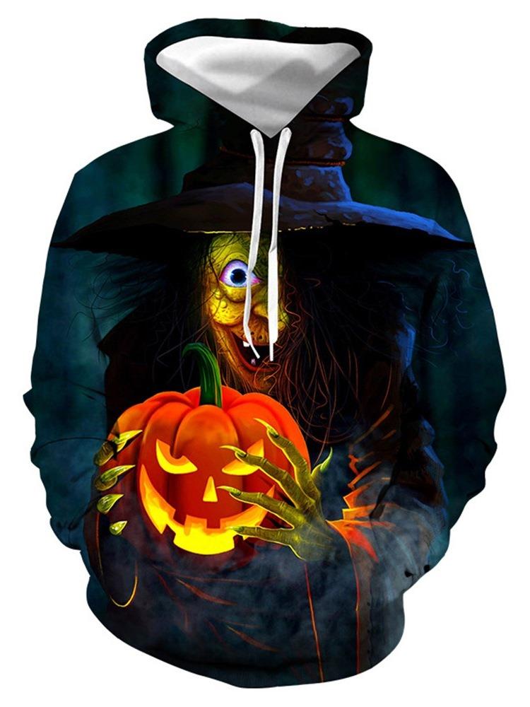 Ericdress Color Block 3D Pullover European Men's Halloween Costume Hoodies