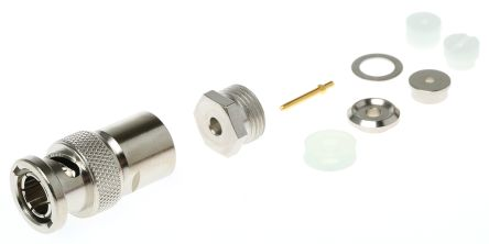 Telegartner Straight 75Ω Cable Mount BNC Connector, Plug, Nickel, Clamp Termination, RG179 B/U