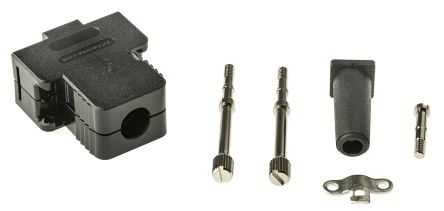 FCT , FKH ABS D-sub Connector Backshell, 9 Way, Black