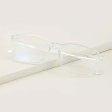 Brille mit transparentem Rahmen