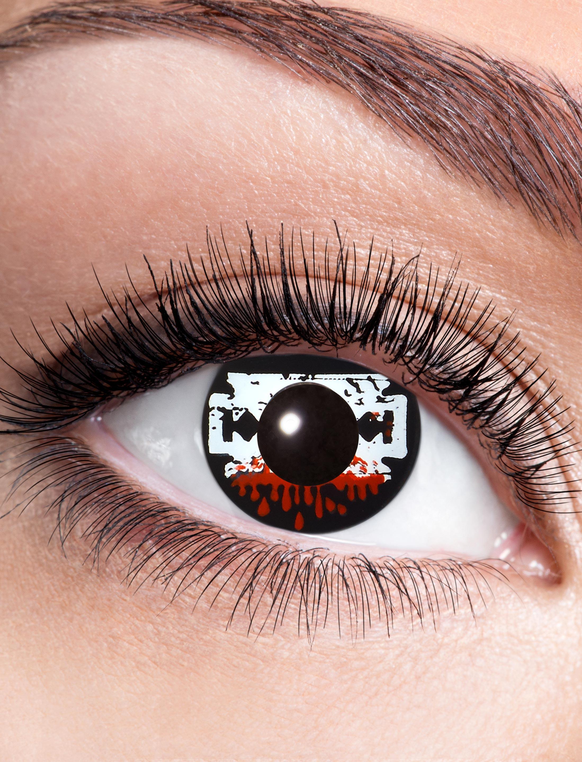 Kostuemzubehor Kontaktlinsen Saw Farbe: schwarz