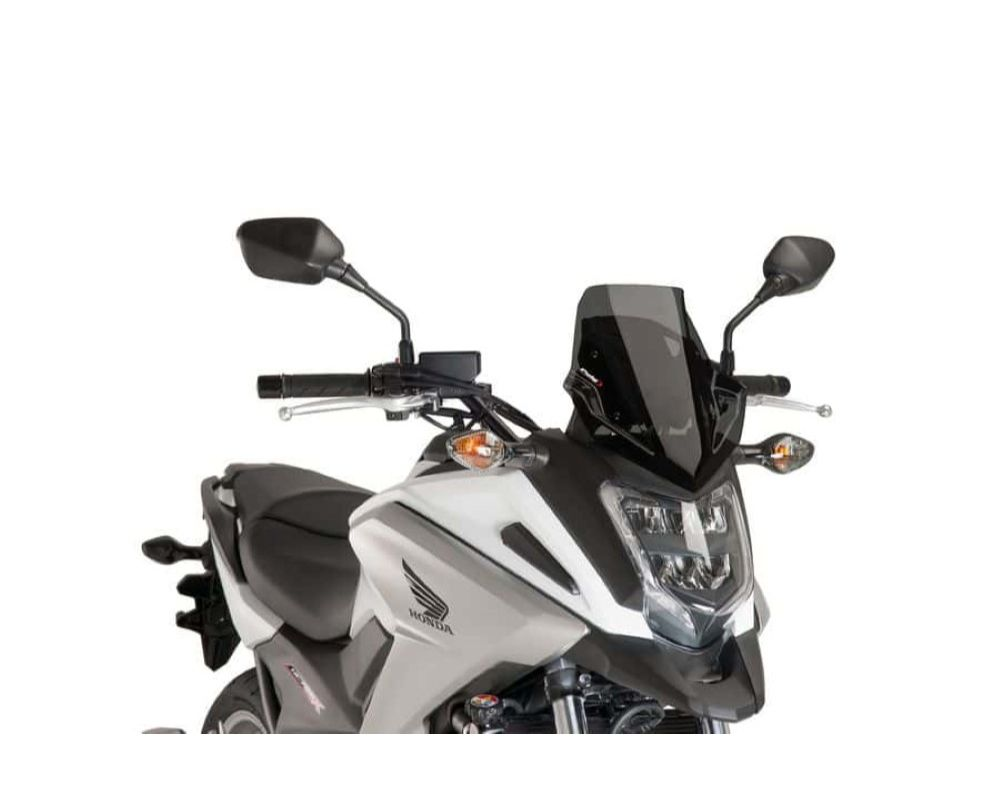 Puig 8909F Sport Windscreen - Dark Smoke Honda NC700X 2018