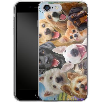 Apple iPhone 6 Plus Silikon Handyhuelle - Dogs Selfie von Howard Robinson