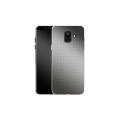 Samsung Galaxy A6 Silikon Handyhuelle - Dot Grid Grey von caseable Designs