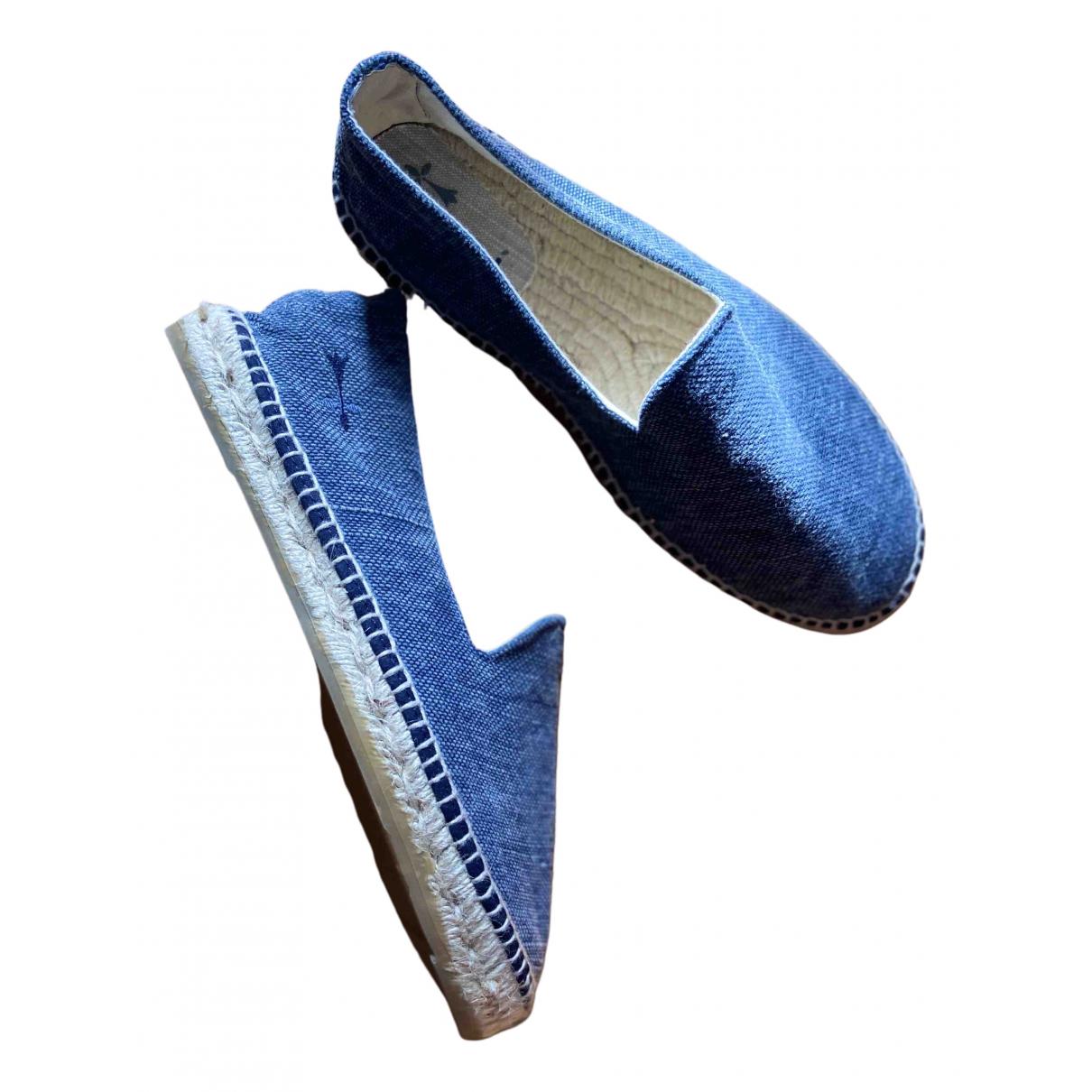 Manebi - Espadrilles   pour homme en toile - bleu