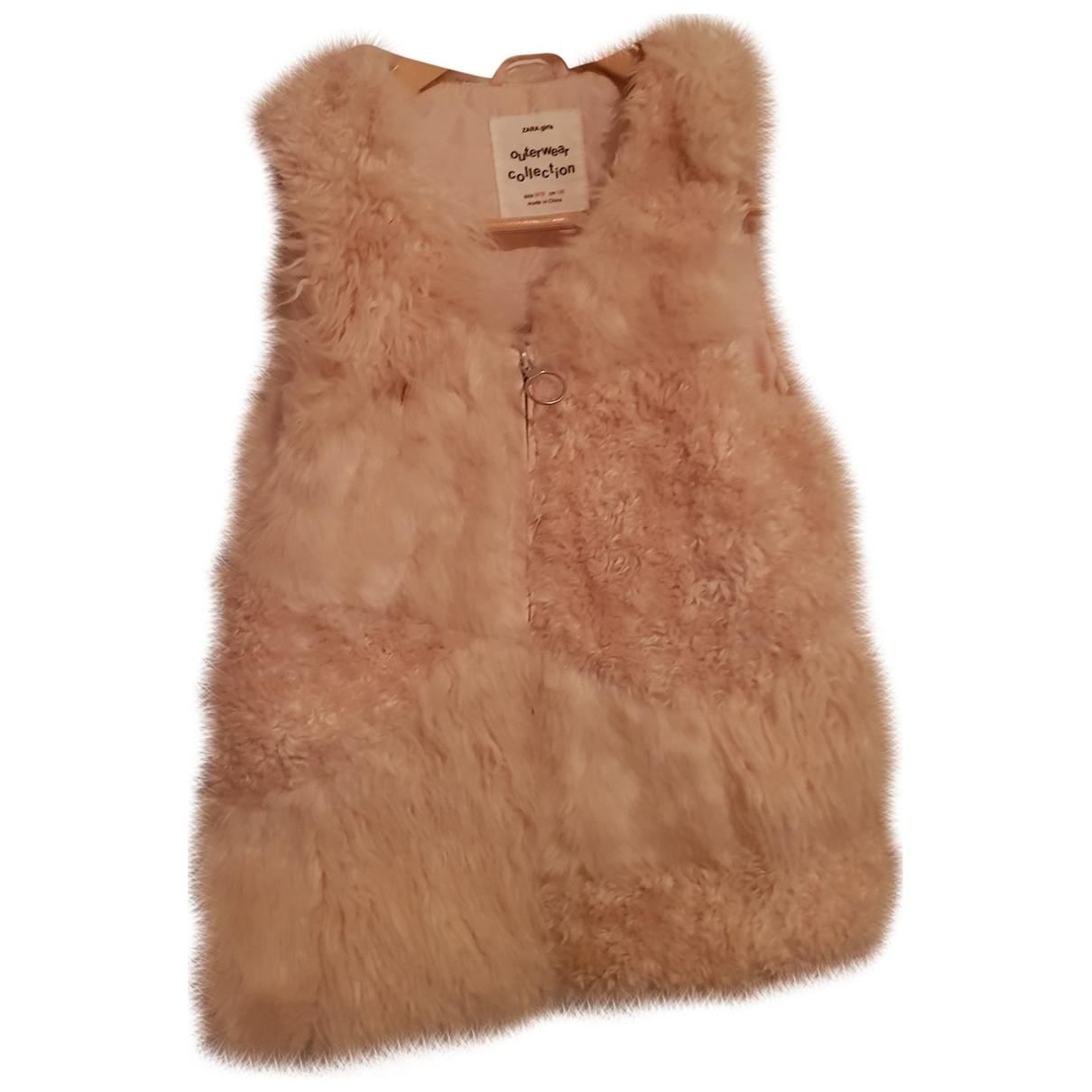 Zara - Blousons.Manteaux   pour enfant en coton - rose