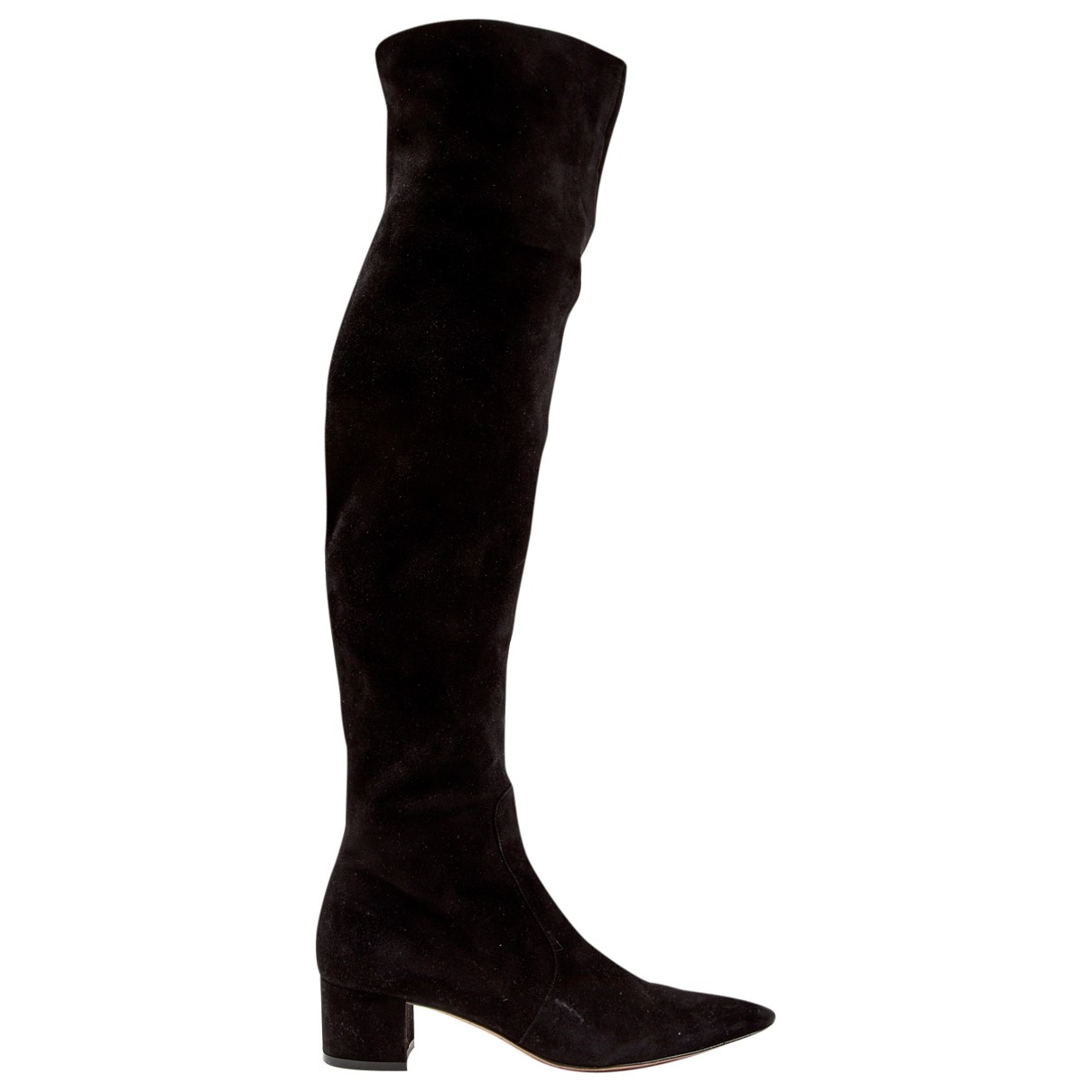 Gianvito Rossi \N Black Suede Boots for Women 38.5 EU
