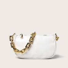 Baguette Tasche mit Krokodil Praegung