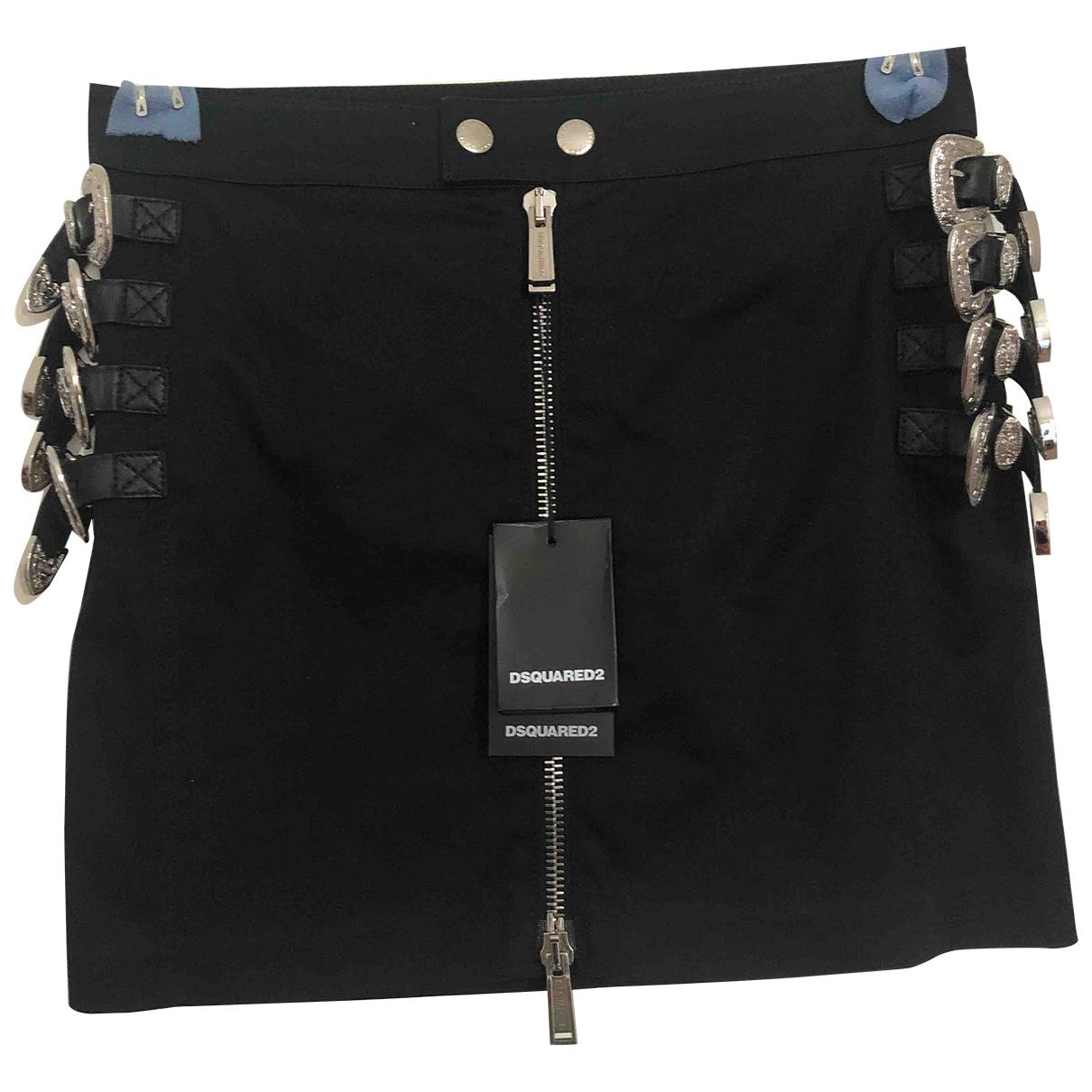 Dsquared2 - Jupe   pour femme en coton - noir