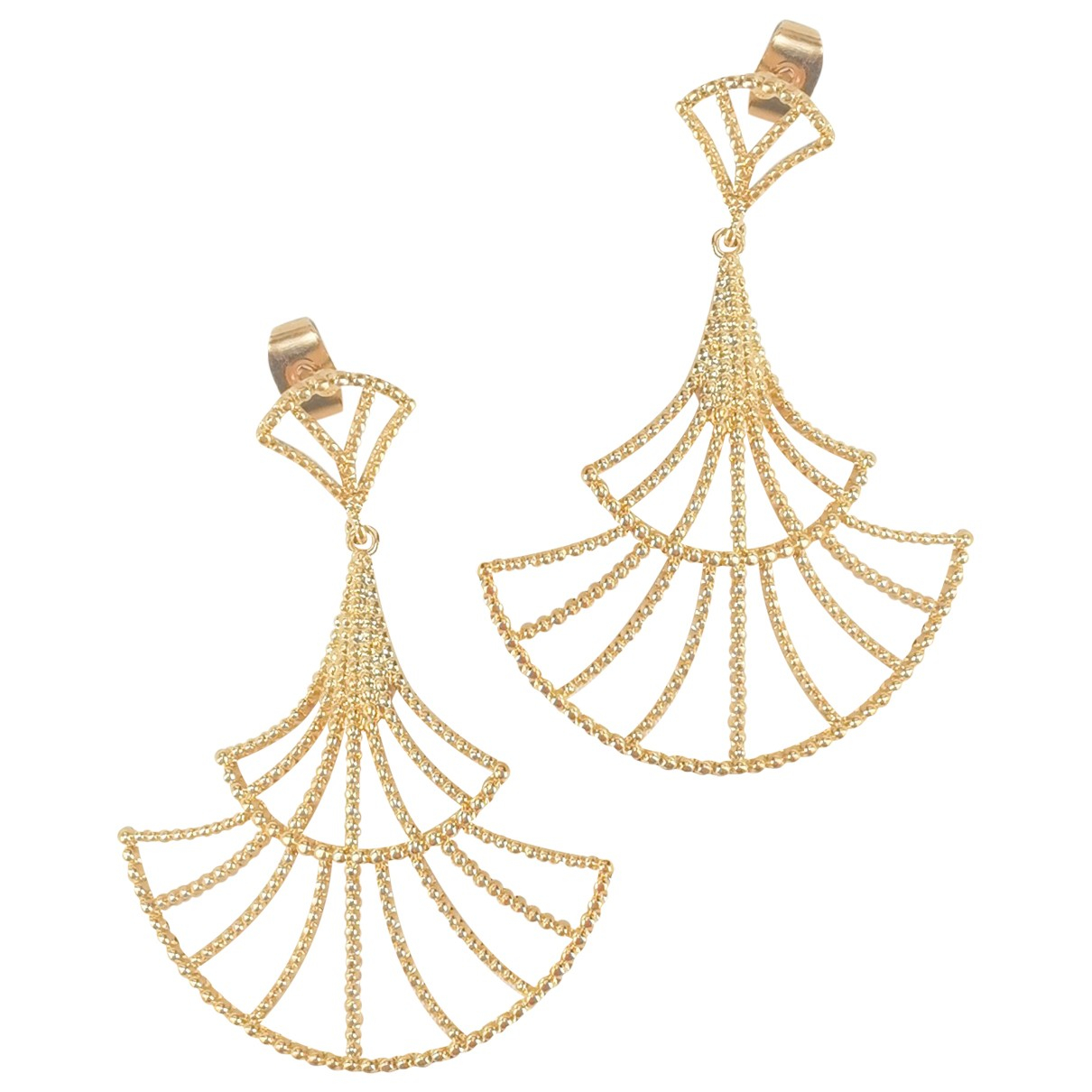 Sezane - Boucles doreilles   pour femme en plaque or - dore