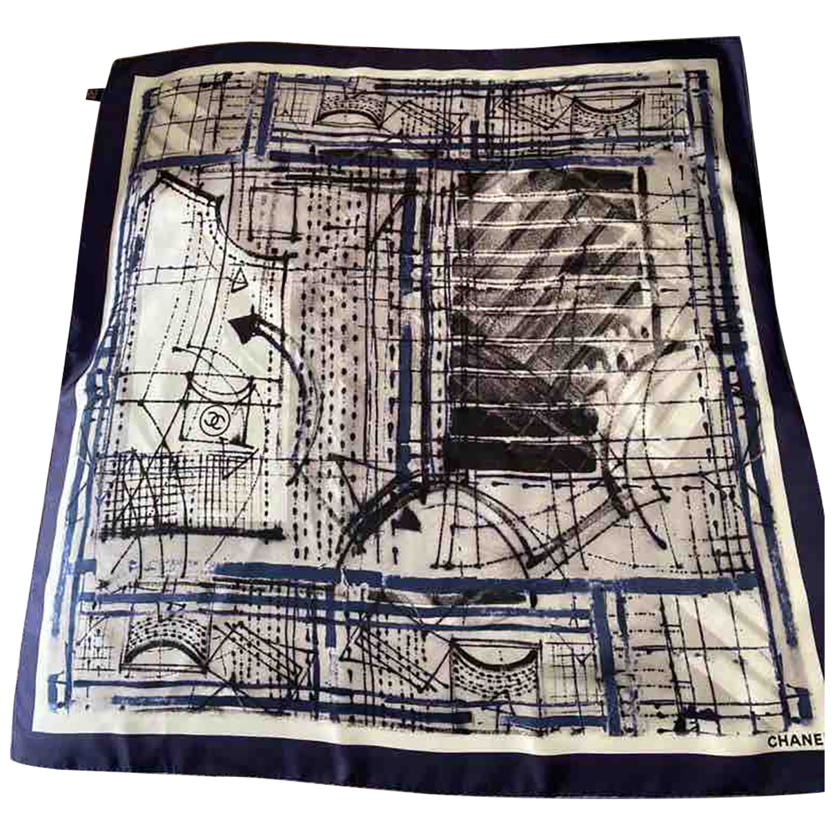 Chanel N Blue Silk scarf for Women N