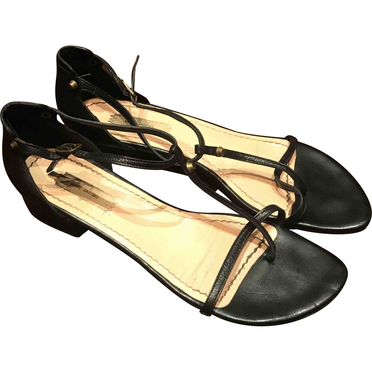 Marc Jacobs \N Black Leather Sandals for Women 38.5 EU